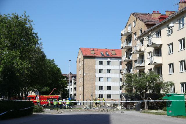 Foto: Se registra una explosión en el vecindario de Hamngatan, en Suecia, 7 junio 2019