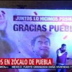 FOTO: Festejos en el Zócalo de Puebla por Luis Miguel Barbosa, 2 Junio 2019