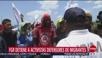 Foto: Activistas defensores migrantes 6 Junio 2019