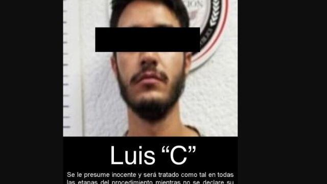 Foto: Tras ser detenido en la colonia Las Lomas sin uso de violencia ni afectación a terceros, Luis 'C' quedó a disposición de la autoridad judicial que lo requirió, el 15 de junio de 2019 (Fiscalía General de la República)