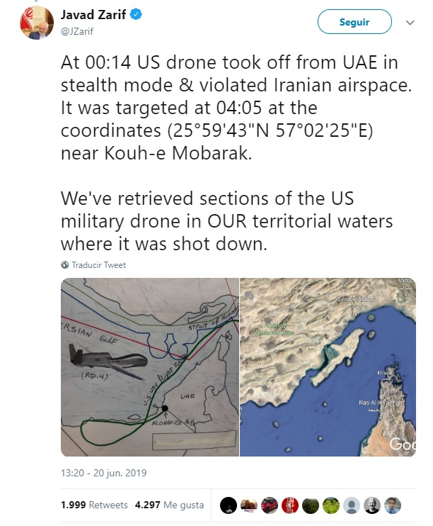 Iran says it has found remnants of US drones on its territory