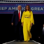 Foto: Donald y Melania Trump durante un acto de campaña en Florida, Estados Unidos. El 18 de junio de 2019