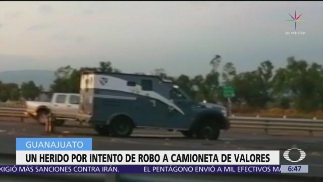 Frustran asalto a camioneta de valores en carretera de Guanajuato