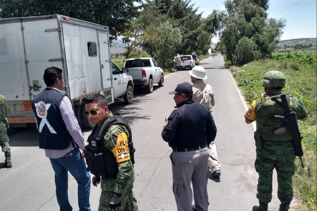 Foto: fuga de gas LP en Puebla, 11 de junio 2019. Twitter @SGGPuebla