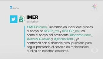 Foto: Gobierno Marcha Atrás Recorte Presupuesto Imer 26 Junio 2019
