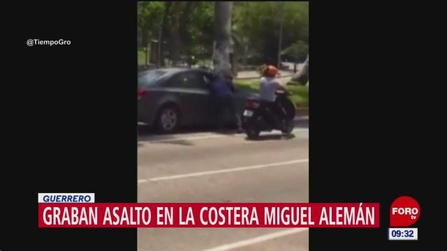 Graban asalto en la costera Miguel Alemán, en Acapulco, Guerrero