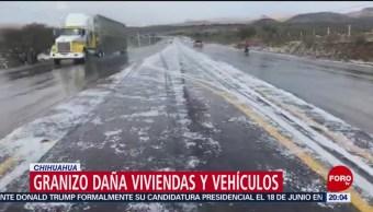 FOTO:Granizo daña viviendas y vehículos en Chihuahua, 1 Junio 2019