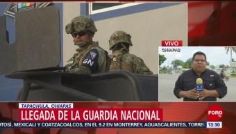 FOTO: Guardia Nacional vigilan zona fronteriza en Chiapas, 17 Junio 2019
