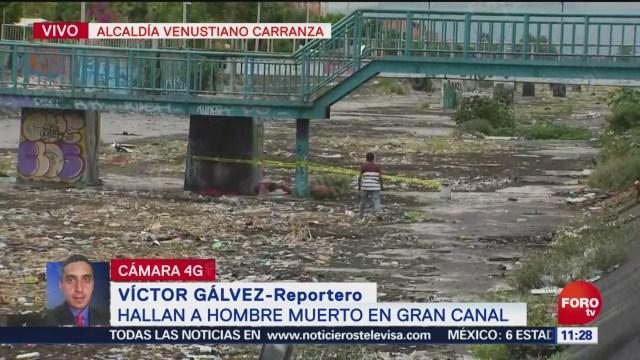FOTO: Hallan a hombre muerto en el Gran Canal, CDMX, 2 Junio 2019
