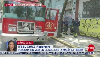 FOTO: Hallan persona muerte en colonia Santa María la Ribera, 16 Junio 2019