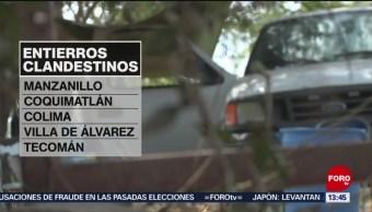 Foto: Han hallado 90 fosas clandestinas en Colima