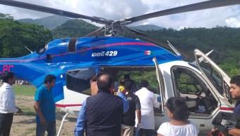 Foto: traslado de heridos en el accidente ocurrido en San Pedro Xochicuaco, 27 de junio 2019. Twitter @omarfayad