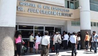 Foto: hospital de Alta Especialidad 'Juan Graham Casasús' en Tabasco, 25 de junio 2019.(Twitter @DiarioPresente, archivo)