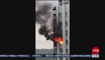 Incendio afecta torre de Puerto Madero, en Buenos Aires