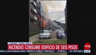 Foto: Incendio Edificio Londres 9 Junio 2019