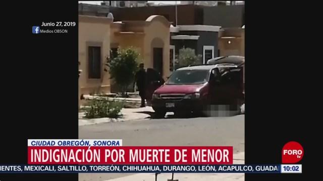 FOTO: Indignación por asesinato de un hombre y su hijo en Sonora, 29 Junio 2019