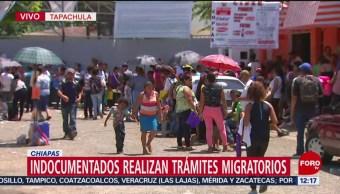 Indocumentados realizan trámites migratorios en Chiapas