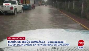 Intensas lluvias causan daños en Galeana, Nuevo León