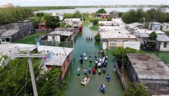 Foto: inundación en Reynosa, Tamaulipas, 26 de junio 2019. Twitter @reyayuntamiento