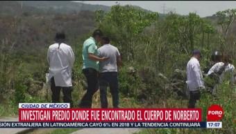 FOTO: Investigan antecedentes del predio donde encontraron cuerpo de Norberto