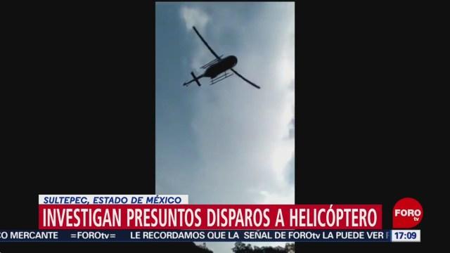FOTO: Investigan disparos contra helicóptero en el Estado de México