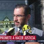 FOTO: Jesús Orta se compromete a hacer justicia por muerte de Norberto Ronquillo
