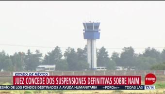 FOTO: Juez concede suspensiones definitivas por Santa Lucía