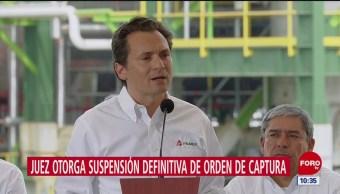 Juez otorga suspensión definitiva de orden de captura contra Emilio Lozoya