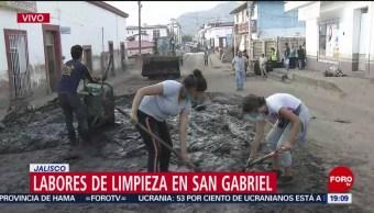 Foto: Limpieza San Gabriel Jalisco dESBORDAMIENTO rÍO 6 Junio 2019