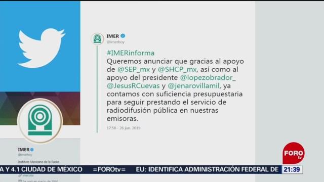 Foto: Imer Presupuesto 26 Junio 2019