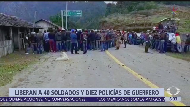 Liberan a 40 soldados y diez policías de Guerrero