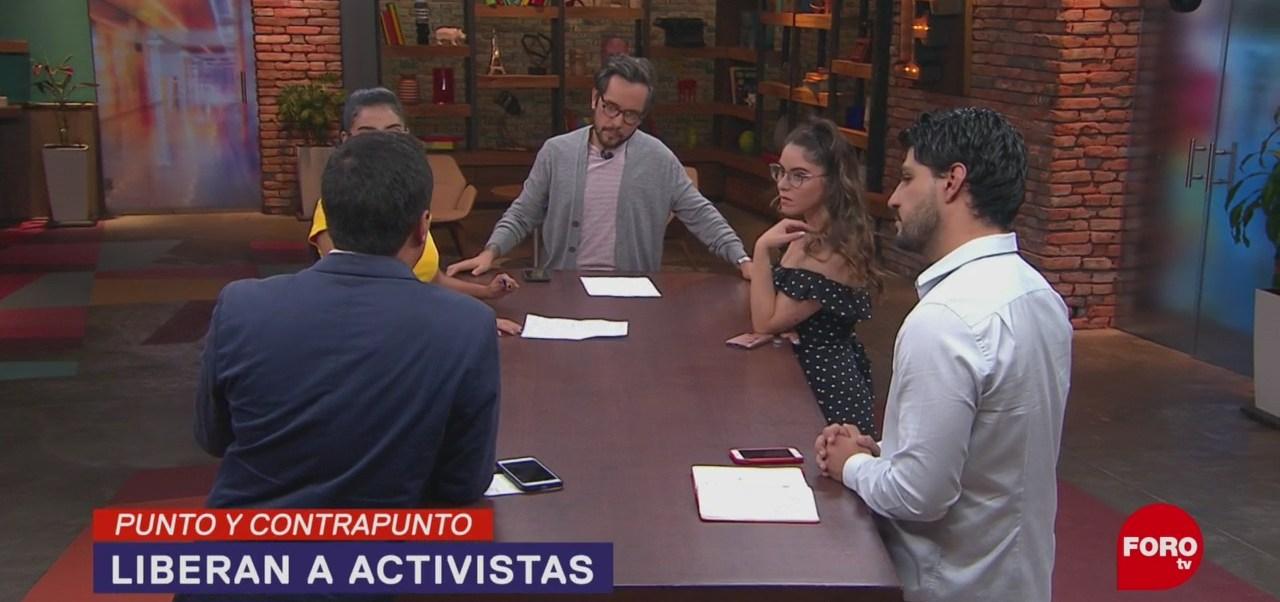 Foto: Liberan Activistas Pueblos Sin Fronteras 13 Junio 2019