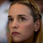 Foto: Lilian Tintori, esposa de Leopoldo López, 26 de noviembre de 2015, Caracas, Venezuela