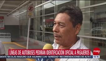 FOTO: Líneas de autobuses ya piden identificación oficial en Chiapas, 22 Junio 2019