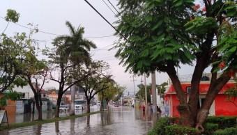 Foto: Reportan lluvias en distintos puntos en el estado de Campeche, junio 2 de 2019 (Twitter: @megaopina)