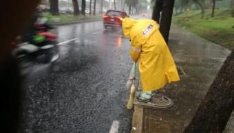 Foto: alerta amarilla por lluvias en la CDMX, 14 de junio 2019. Twitter @SOBSECDMX