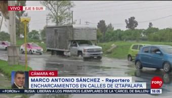 Foto: Lluvia entorpece el tránsito en la Ciudad de México