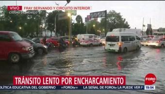 Foto: Lluvia Encharcamiento Cdmx tRÁFICO 6 Junio 2019