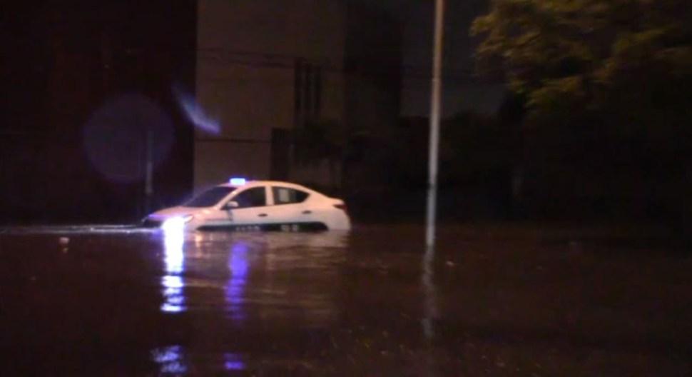 FOTO Lluvias provocan inundaciones en San Luis Potosí (Noticieros Televisa)