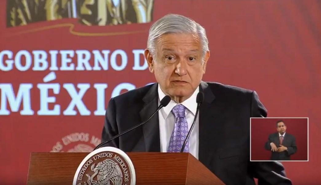 Foto: El presidente López Obrador en conferencia de prensa desde Palacio Nacional, 26 junio 2019