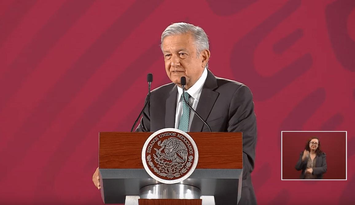 Foto: El presidente López Obrador en conferencia de prensa, 18 de junio de 2019, Ciudad de México