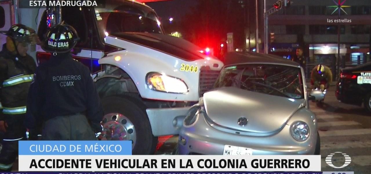 Madrugada de accidentes vehiculares en la CDMX