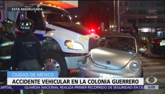 Madrugada de accidentes vehiculares en la CDMX