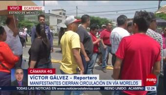 FOTO: Manifestantes bloquean la Vía Morelos por escasez de agua potable