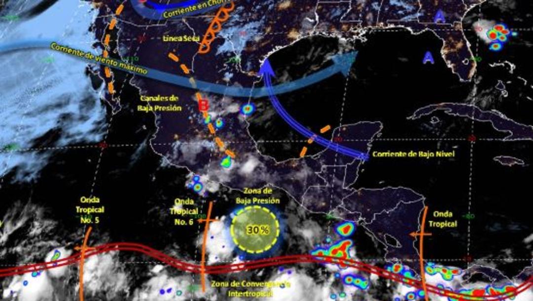 Foto: Imagen de fenómenos meteorológicos significativos de las 06:00 horas, 23 junio 2019