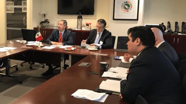 FOTO Ante la ONU, el canciller de México, Marcelo Ebrard, expone el Plan de Desarrollo Integral para Centroamérica (Twitter m_ebrard 19 junio 2019 nueva york)