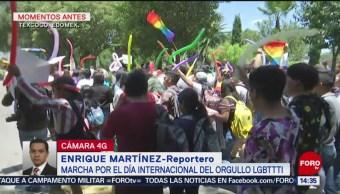 Foto: Marcha del Orgullo LGBTTTI sale de la Universidad de Chapingo
