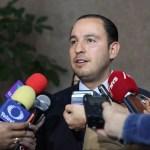 Foto: Marko Cortés, presidente del PAN, dijo que México fue obligado a cumplir con el despliegue de un muro militar en el sur, el 8 de junio de 2019 (PAN)