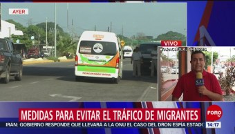 Foto: Medidas contra el tráfico de migrantes en la frontera sur