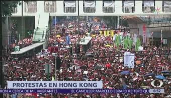 Megamanifestación en Hong Kong por ley de extradiciones a China